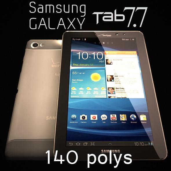 3DOcean Samsung Galaxy Tab 7.7 Low Poly 140 3114128