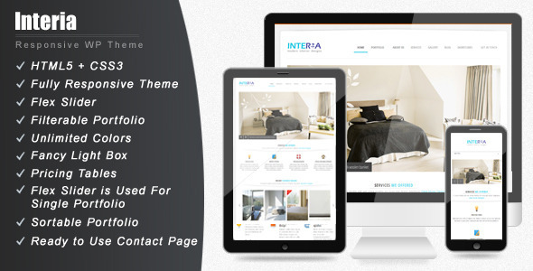 ThemeForest Interia Responsive WordPress CMS Theme 3114354