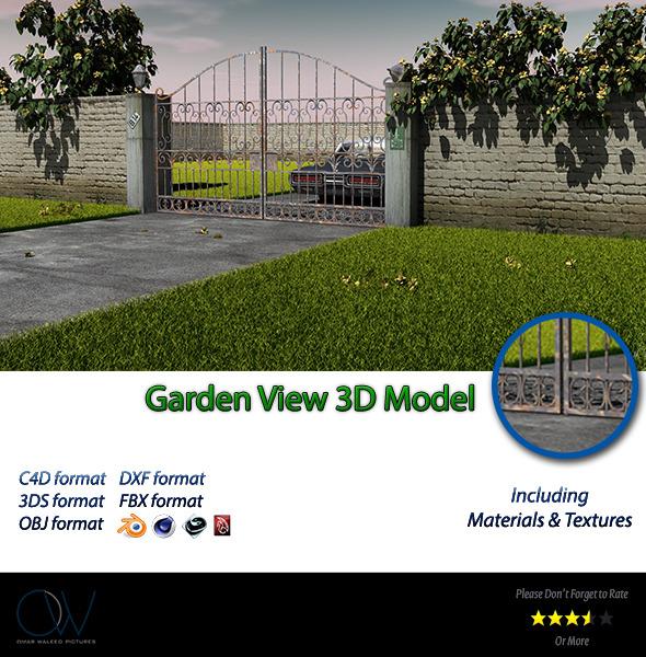 3DOcean Garden View 3D Model 3115587