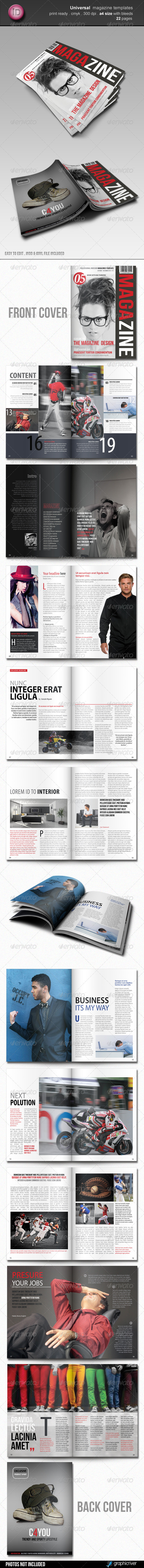Universal Magazine Template - Magazines Print Templates
