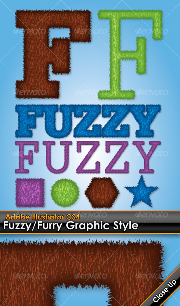 GraphicRiver Fuzzy Furry Illustrator Graphic Style 110306