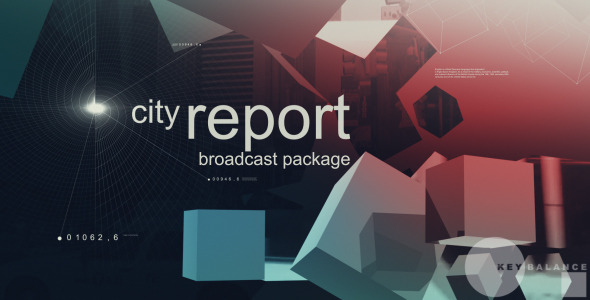 After Effects Project - VideoHive City Report Broadcast Package 3084673