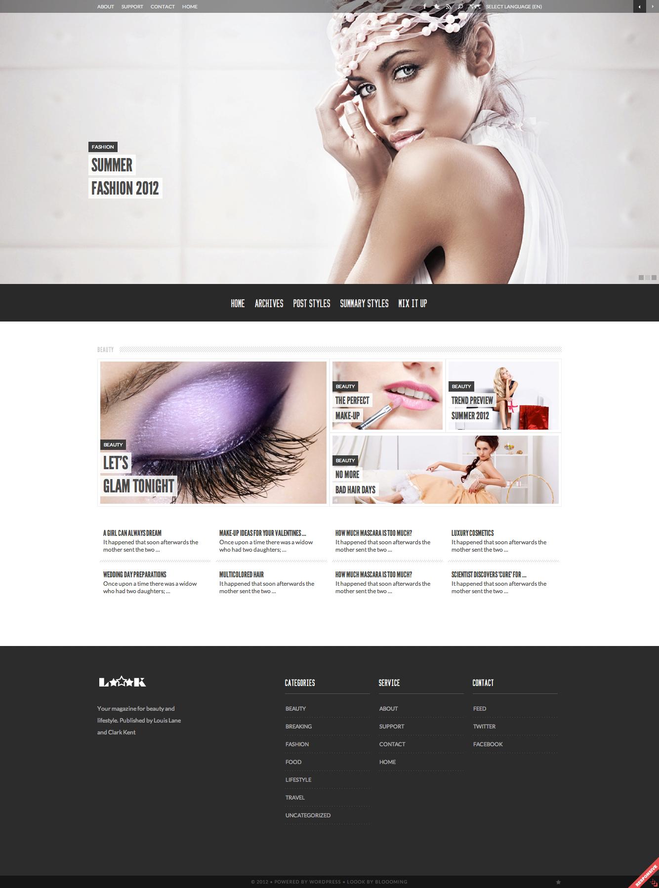 Loook - responsive magazine theme (XHTML)
