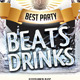 Beats Drinks Flyer - GraphicRiver Item for Sale