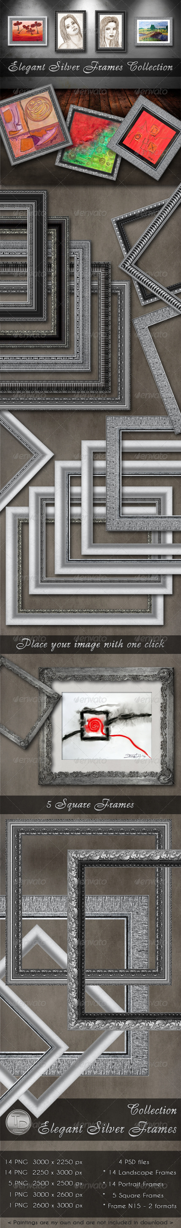 GraphicRiver Elegant Silver Frames Collection 2721646