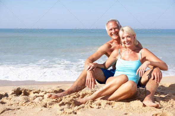 Stock Photo - PhotoDune Senior couple on beach holiday 320997
