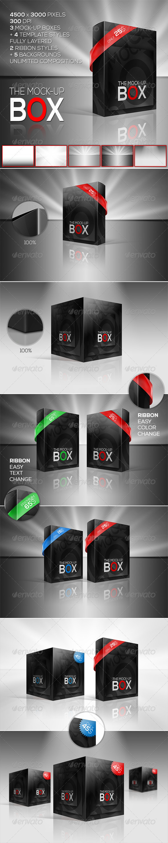 The Mock-Up Box | 7 Photorealistic Styles - Miscellaneous Packaging