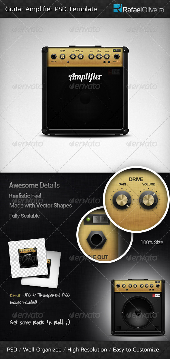 GraphicRiver Guitar Amplifier PSD Template 3118161