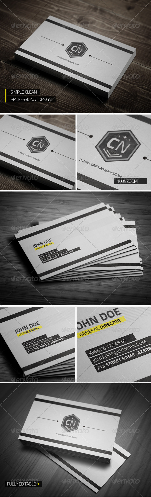 GraphicRiver Clean Professional Business Card 3118367