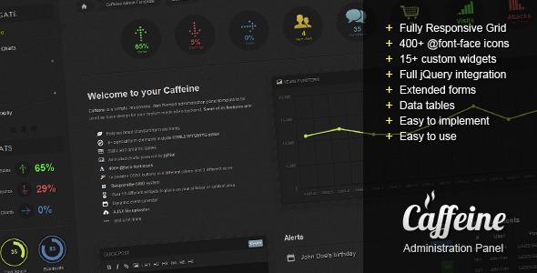 Caffeine Responsive Admin Template