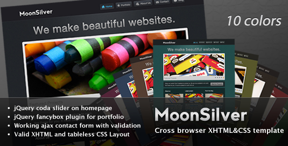 ThemeForest MoonSilver 97313