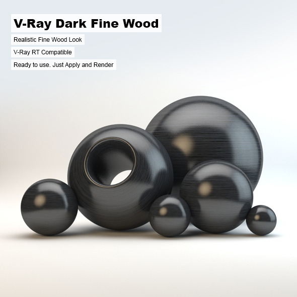 V-Ray Dark Fine Wood Material - 3DOcean Item for Sale