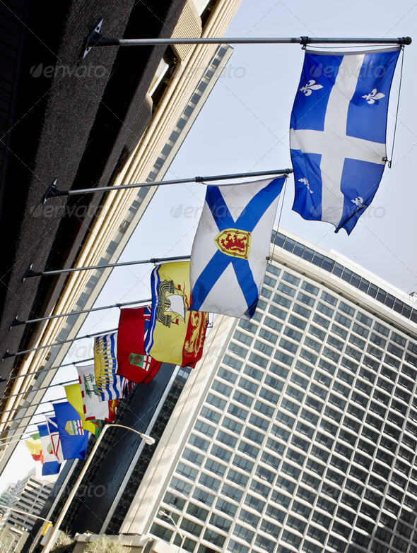 Canada Provincial Flags - Stock Photo - Images