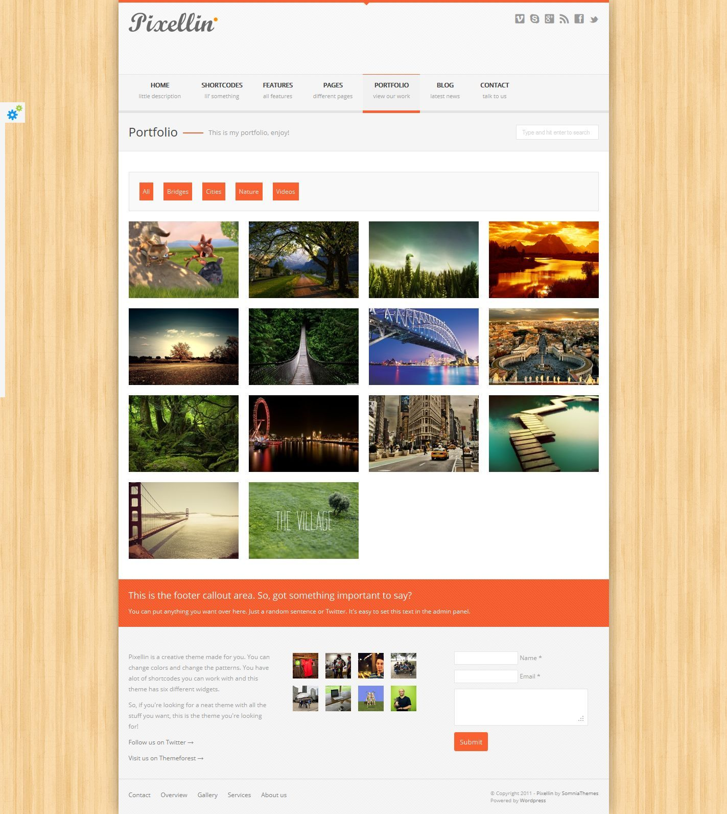 Pixellin - Responsive HTML5/CSS3 Template
