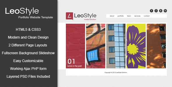 Leo - HTML5 Portfolio Website Template