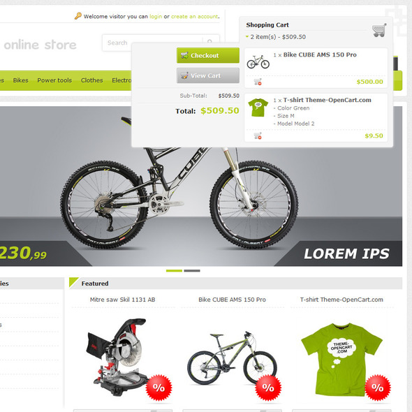 ThemeForest Start Online Store Responsive OpenCart Theme 2981026
