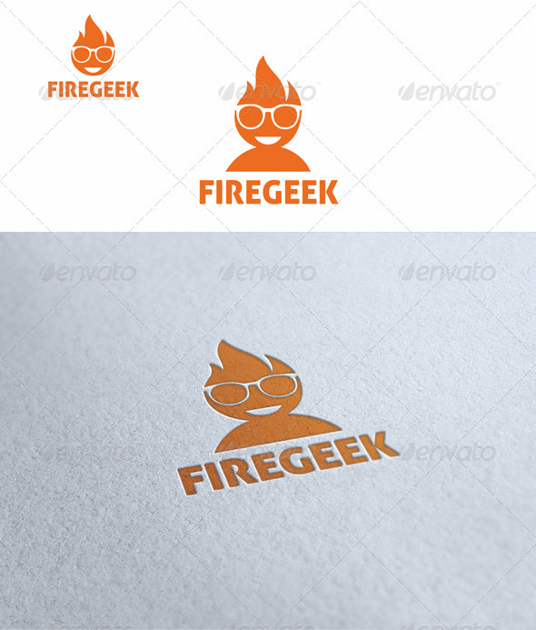 Fire Geek - Humans Logo Templates