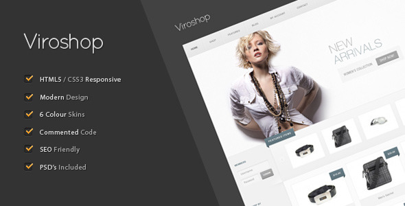 Viroshop - A Modern Responsive eCommerce Template