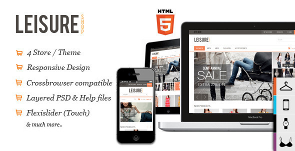 ThemeForest Leisure Responsive HTML5 OpenCart Theme 3014002