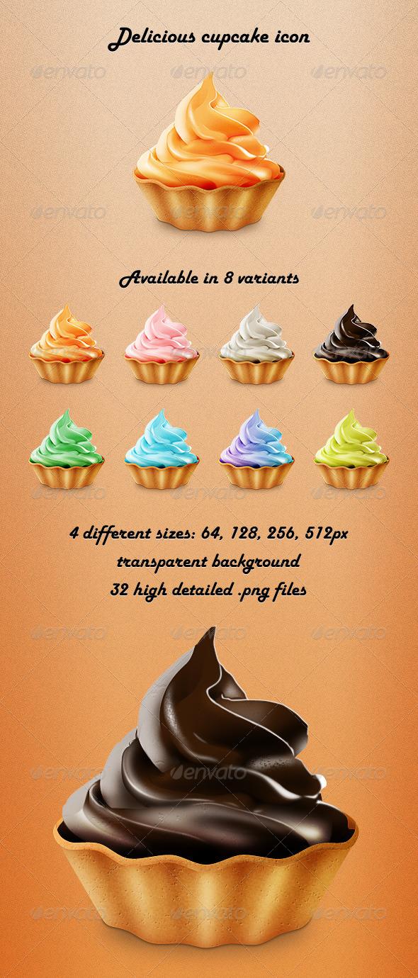 GraphicRiver Delicious Cupcake Icon 3125158