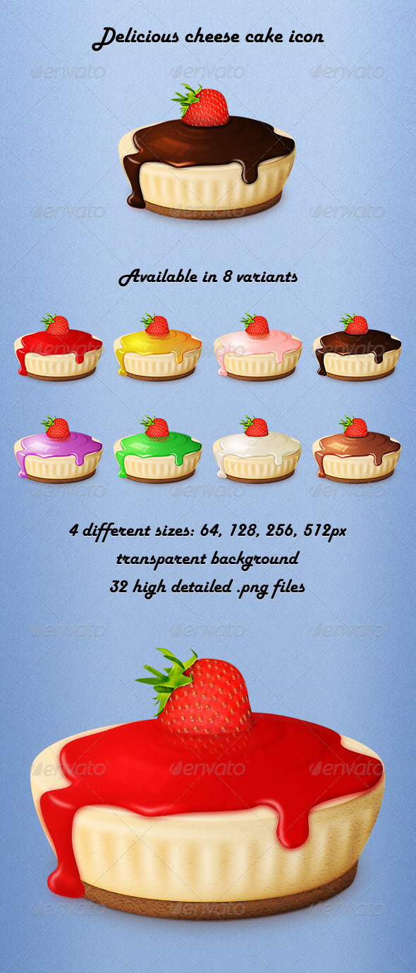 GraphicRiver Delicious Cheese Cake Icon 3125166