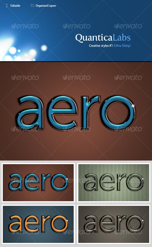 Glassy styles #1 (Ultra Shiny) - Text Effects Styles