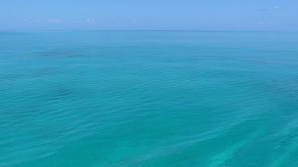 Clear Water Of Caribbean Sea Near Cayo Largo Cuba