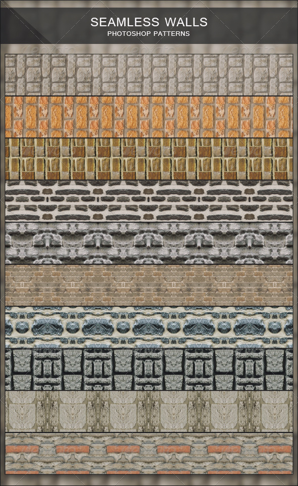 Seamless Walls - Photoshop Patterns - Urban Textures / Fills / Patterns
