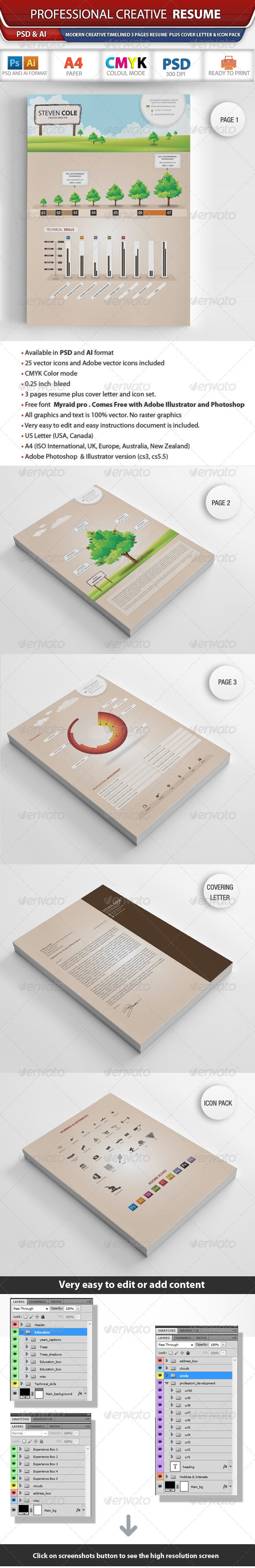 Creative Resume - Resumes Stationery