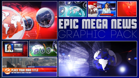 VideoHive Epic News Graphic pack 3128104