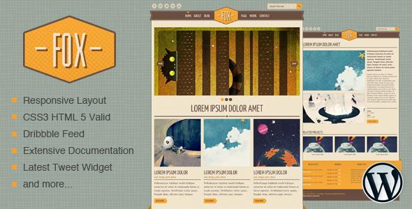 Fox - WordPress Theme - Home page