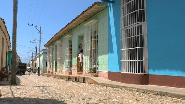Typical Colonial Street Of Trinidad Cuba