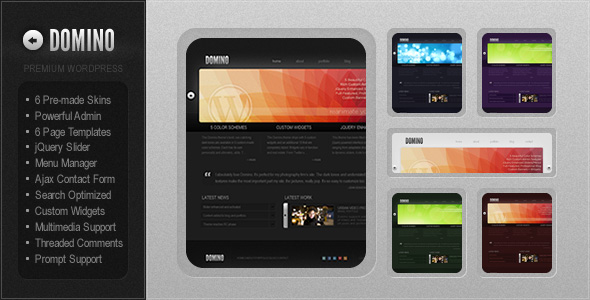 Domino - Bold Premium Wordpress Portfolio