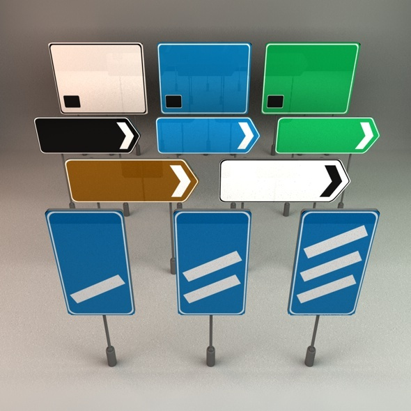UK Motorway Signs - 3DOcean Item for Sale