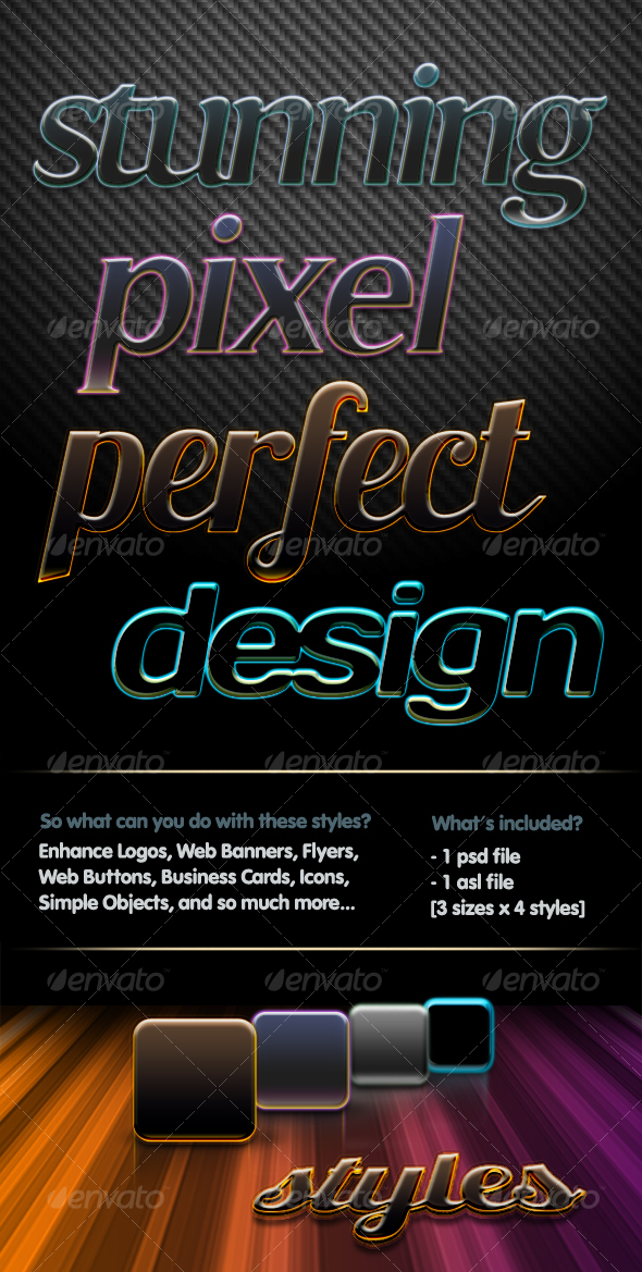 GraphicRiver 4 Pixel Perfect Styles 110751