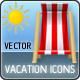 Vector Vacation Set v.1.0 - GraphicRiver Item for Sale