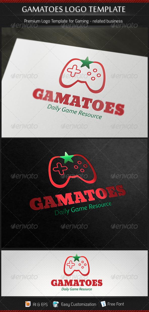 Gamatoes Game Studio Gamer Resource Logo Template