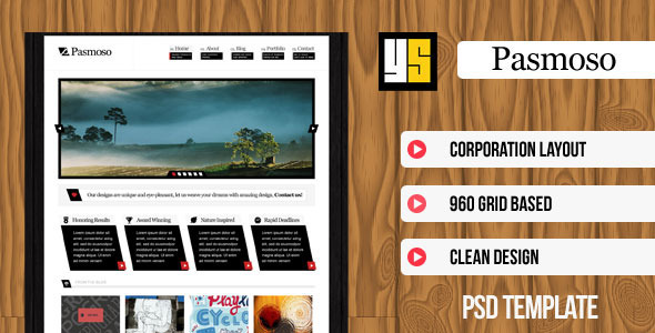 ThemeForest Pasmoso PSD Template for Corporations 3117729