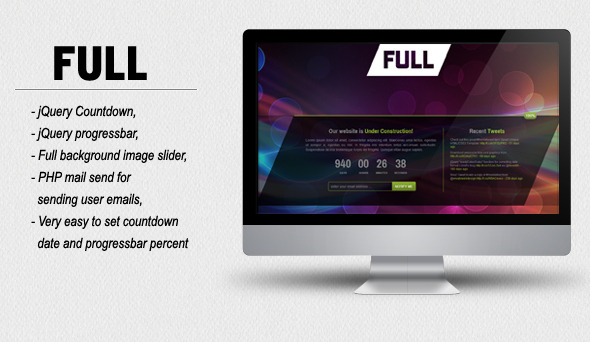 FULL - Coming Soon HTML/CSS Template