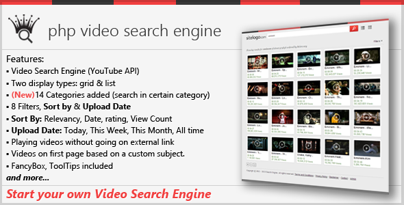 CodeCanyon PHP Video Search Engine 3123910