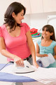 Mother And Daughter Ironing - PhotoDune Item for Sale