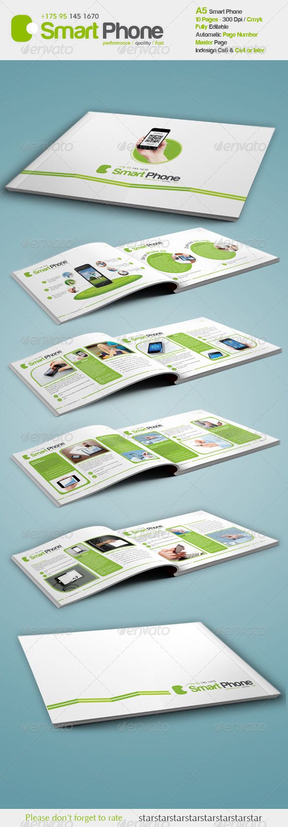 Smart Phone A5  - Brochures Print Templates