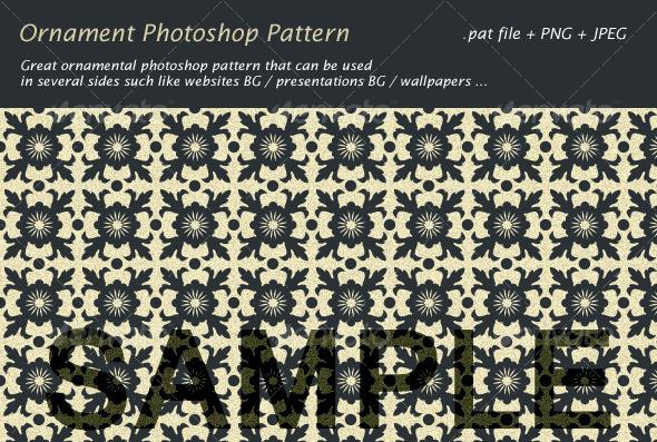 Ornament Photoshop Pattern - Textures / Fills / Patterns Photoshop