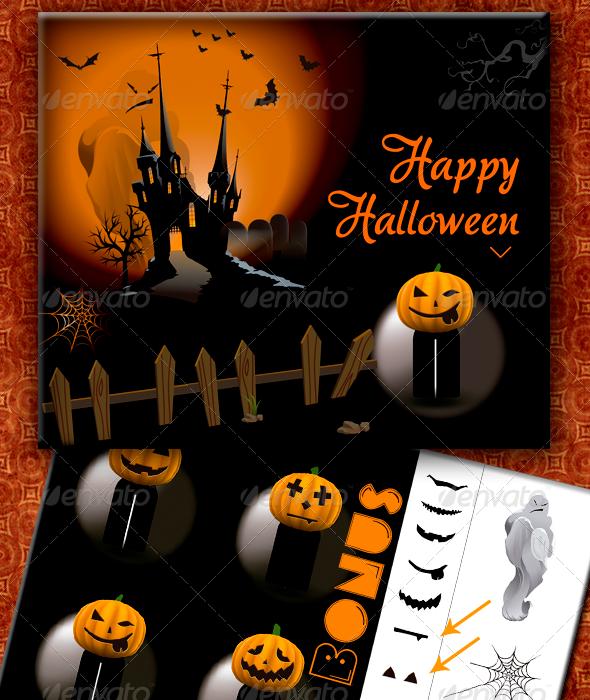 GraphicRiver Hallowen Pumpkin 3129075