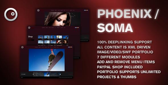 AS3 XML Soma Website Template - ActiveDen Item for Sale