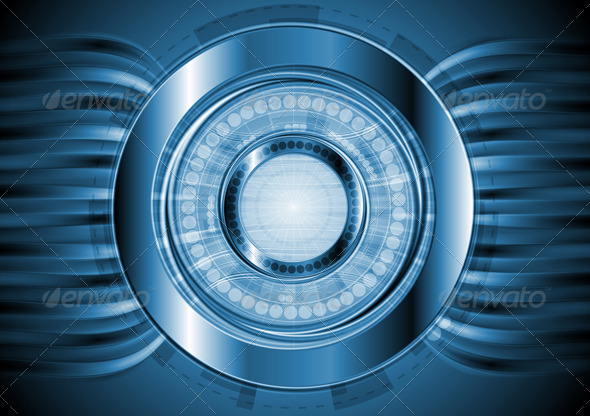 Dark blue hi-tech background. Vector design - Technology Conceptual