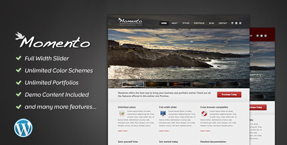 ThemeForest Momento Photography and Business Theme 741911