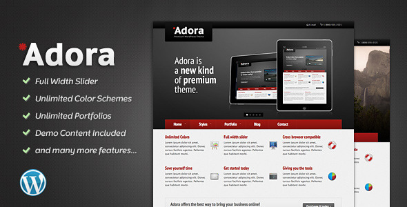 ThemeForest Adora Premium Business & Portfolio Theme 533384