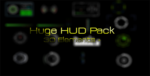 VideoHive Huge HUD Pack 3089626