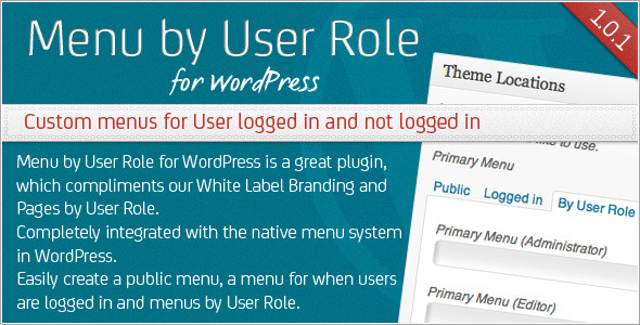 CodeCanyon Menu by User Role for WordPress 3127921